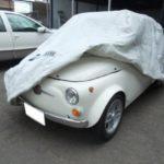 旧チンクエチェントに『COVERITE カバーライト』の自動車カバーを採用|2代目フィアット500用